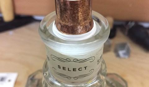 Flasche mit Teflonband umwickelten Fitting