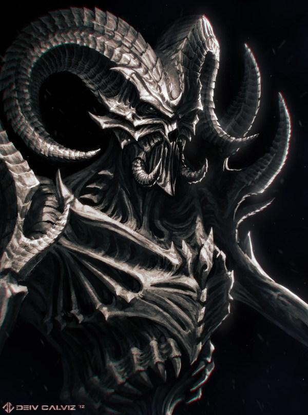 2 Demons And Heads - Deiv Calviz Illustrations