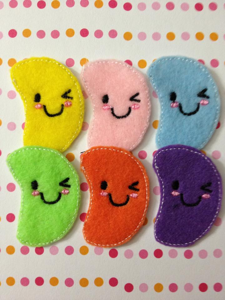 Kawaii Jelly Bean Feltie