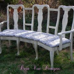 Upcycled Dining Room Chairs Fishing Directors Chair Triple Sitter Upcycle