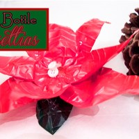 How to Make Poinsettias from Water Bottles