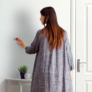 Gebruik de button om je huis te activeren bij thuiskomst.