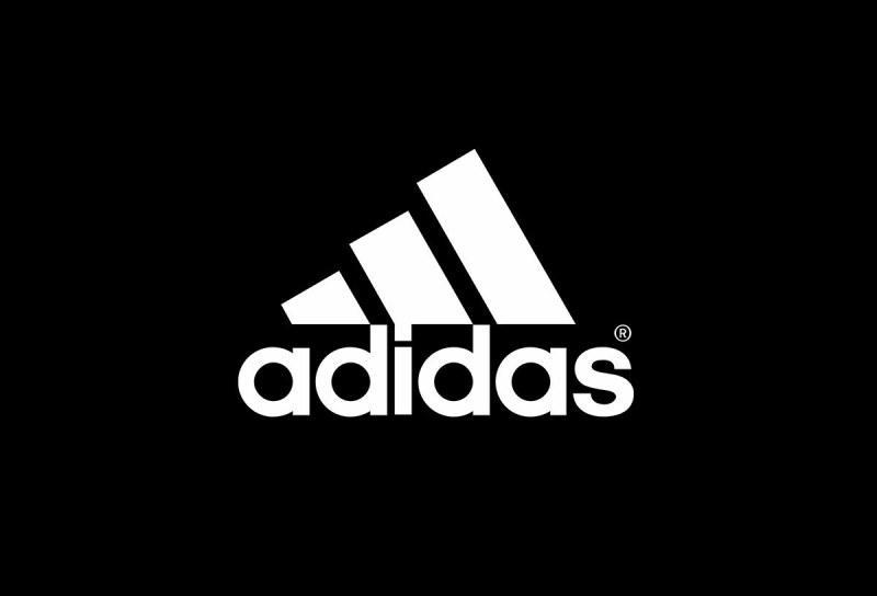 Logo de Adidas con fondo negro