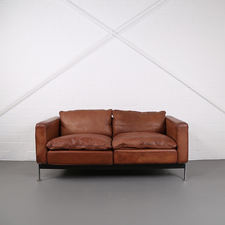de sede sleeper sofa blue grey robert haussmann rh 302 leather dekaden ledersofa cognac vintage design couch 33 34