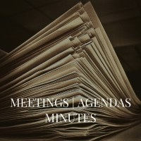 Meeting, Agenda and Minutes link