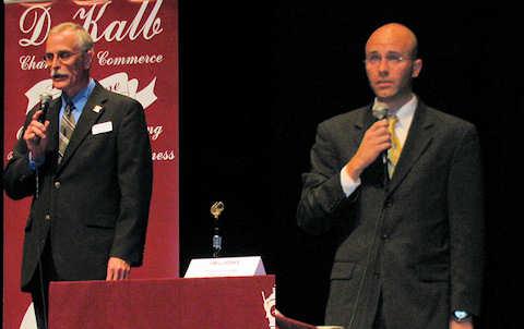 From left: Jim Luebke (D) and John Acardo (R)
