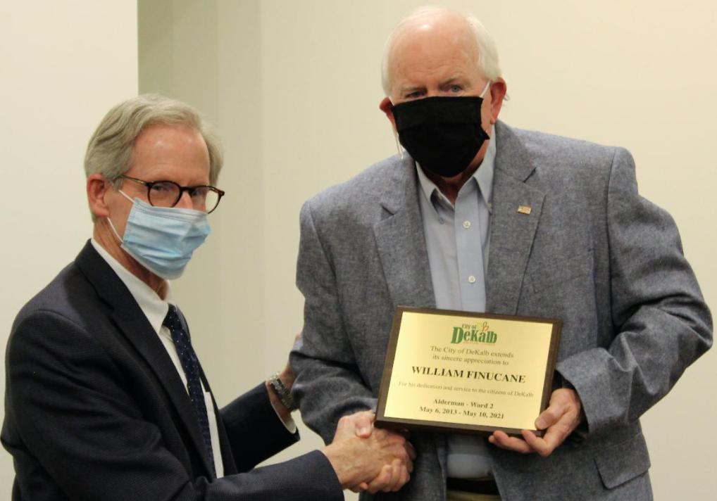 Mayor, Senior Alderman Say Farewell
