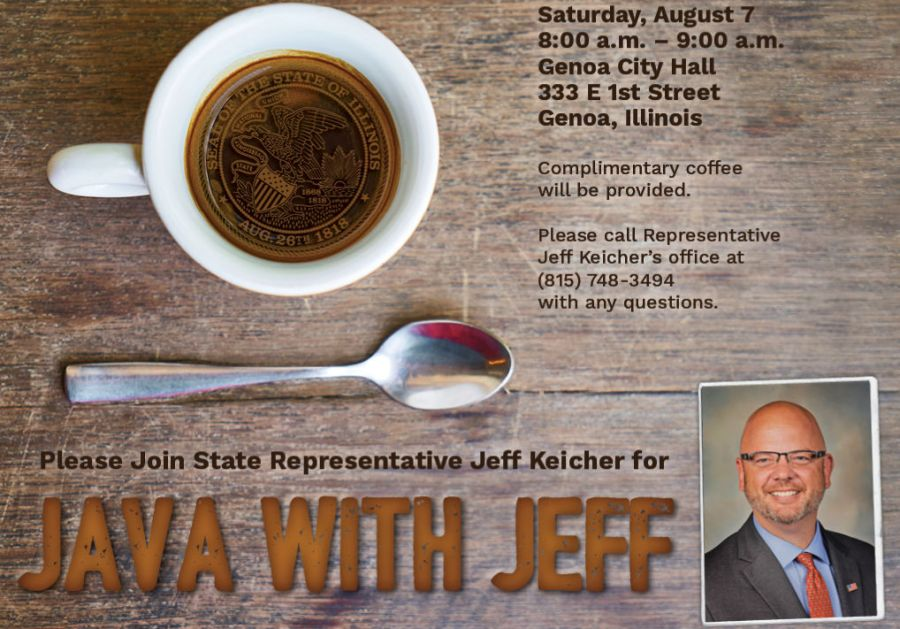 """Please Join State Representative Jeff Keicher For """"Java With Jeff"""""""