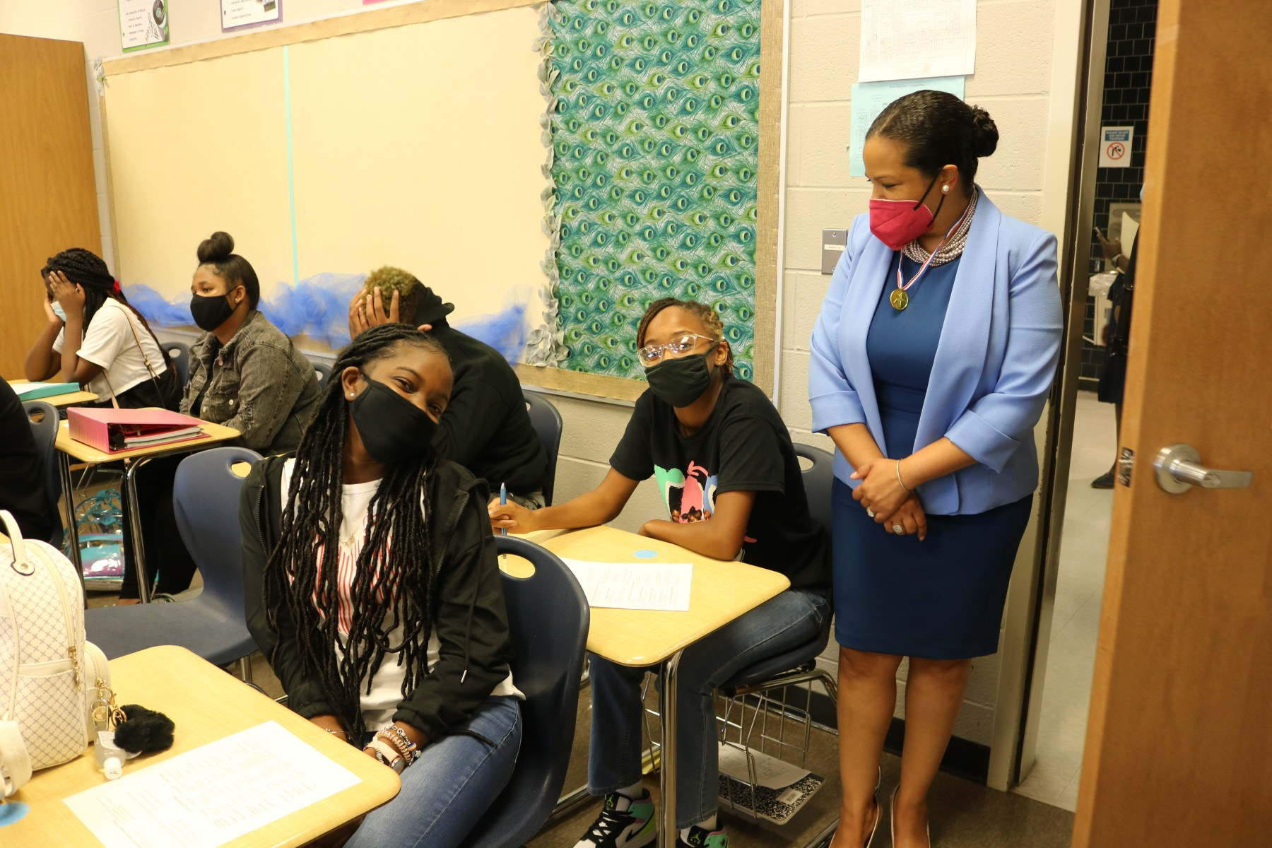 sheryl watson-harris in class with students
