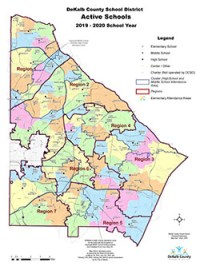 DeKalb Schools By Region