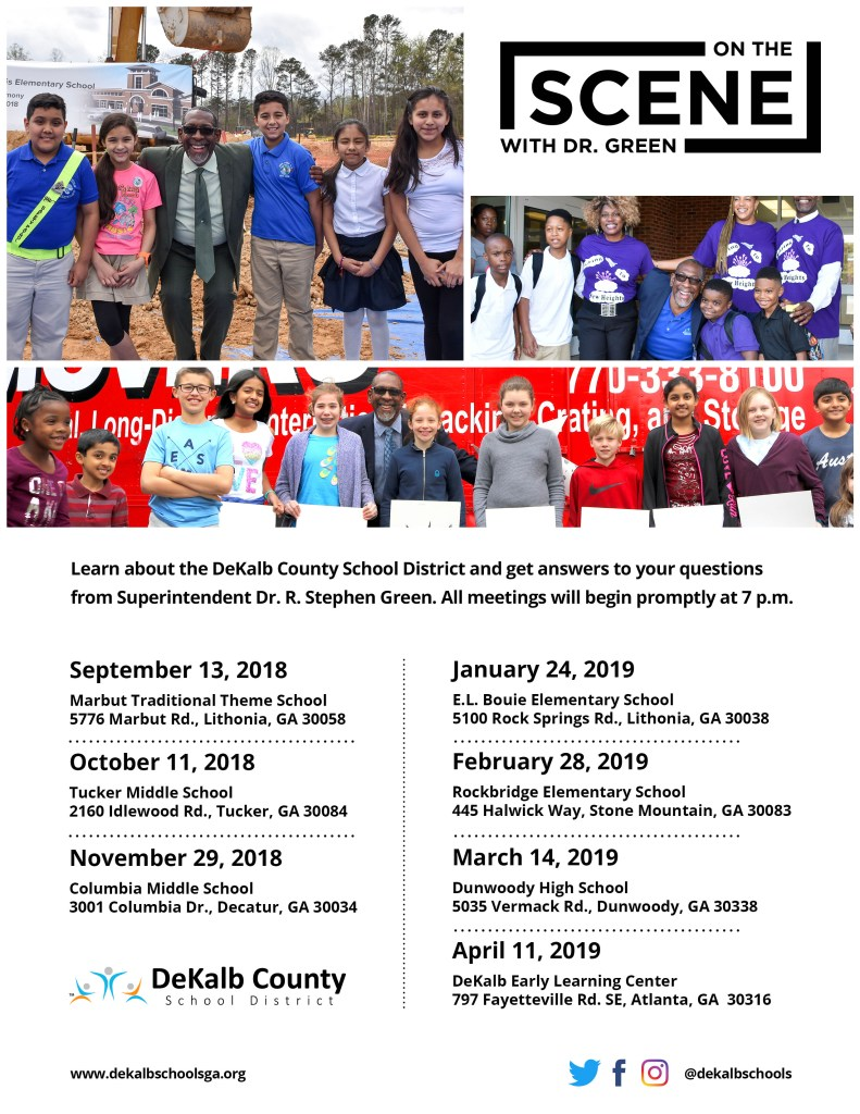 On the Scene dates 2018-2019 school year