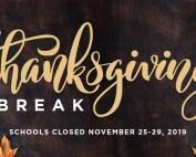Thanksgiving Break 2019 web banner