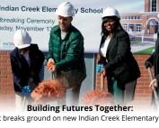 Indian Creek groundbreaking banner