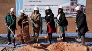 DCSD and Clarkston officials shovel dirt