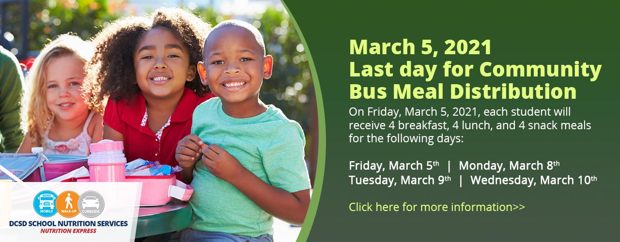 Last Day For Community Bus Meal Distribution