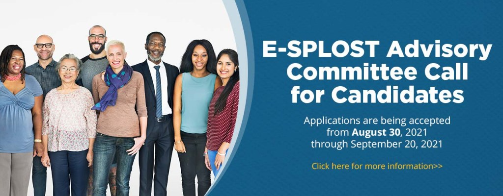 web banner image for e-splost advisory committee member application campaign