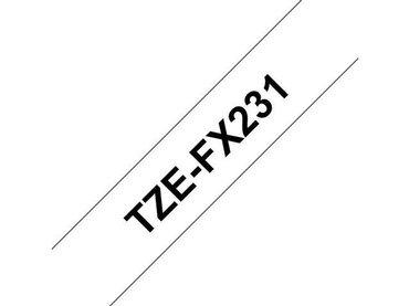Koop uw Brother TZe-FX231 Tape, Flexibel, 12 mm bij De