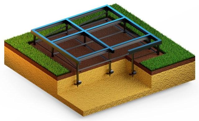 Pieu pour construction patio