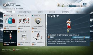 Catálogo completo de EA Sports Football Club en FIFA 14