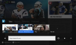 Internet Explorer en Xbox One