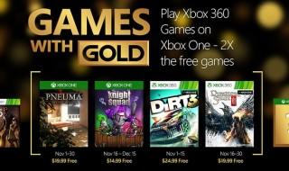 Estos son los Games with Gold de noviembre