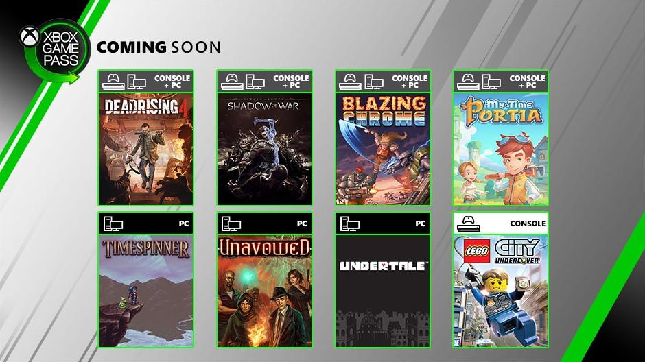 Xbox Game Pass Julio