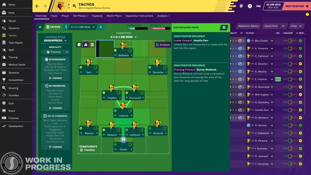Football Manager 2020 - Tácticas