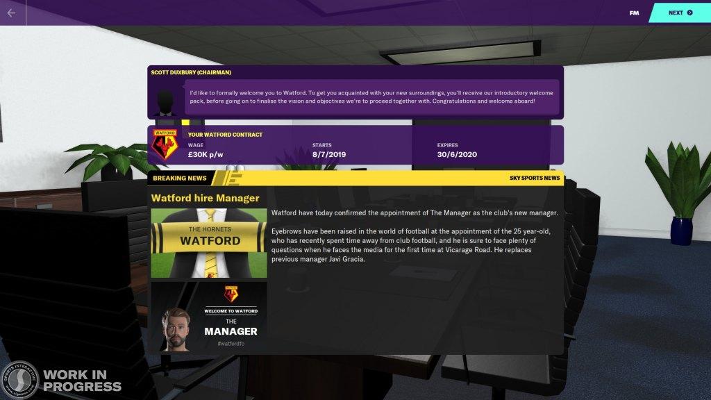 Football Manager 2020 - Bienvenida