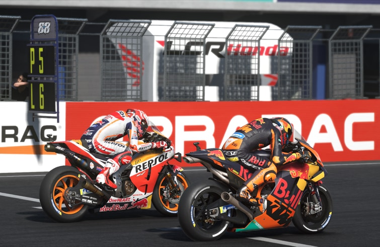 MotoGP 20 - Línea de meta