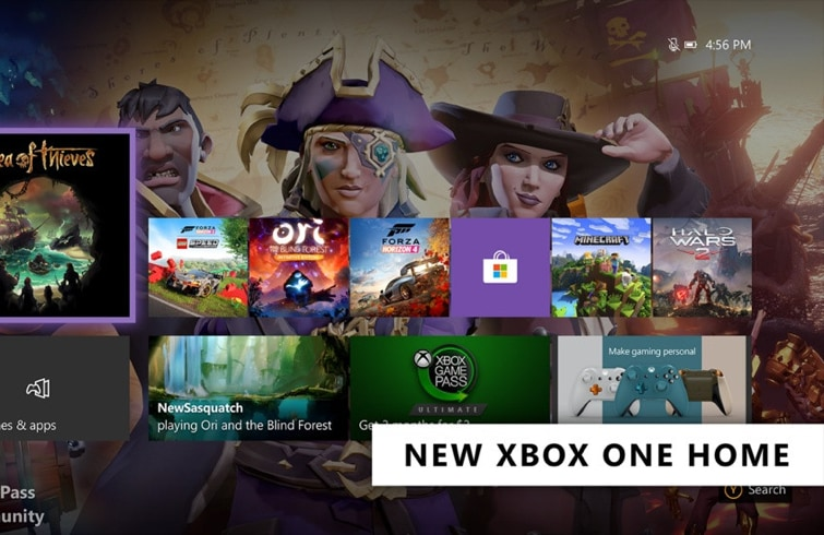 Xbox One Dashboard - New Home