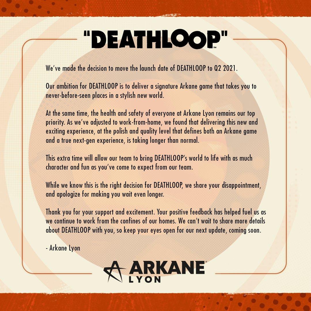 Deathloop - Comunicado retraso