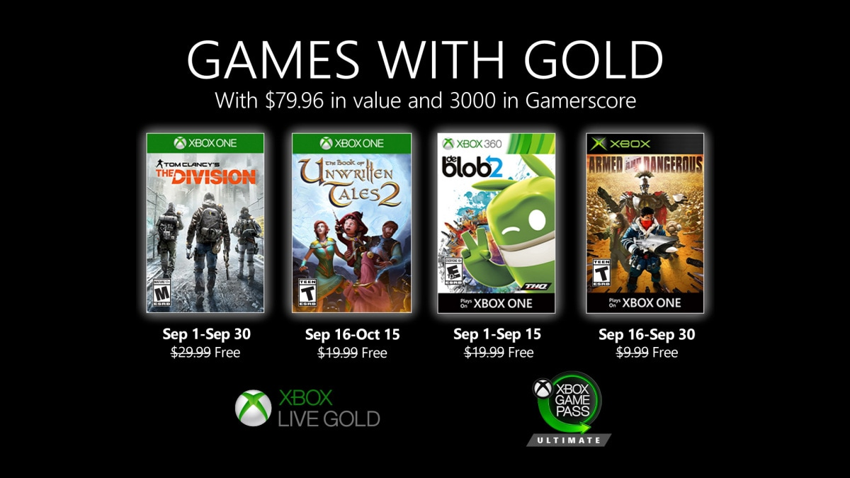 Games with Gold - Septiembre 2020