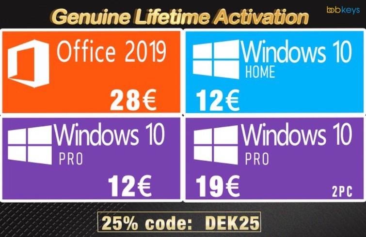 Bobkeys - Windows 10 oferta