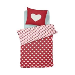 Damai Dekbedovertrek Hearts Red-140 x 200/220