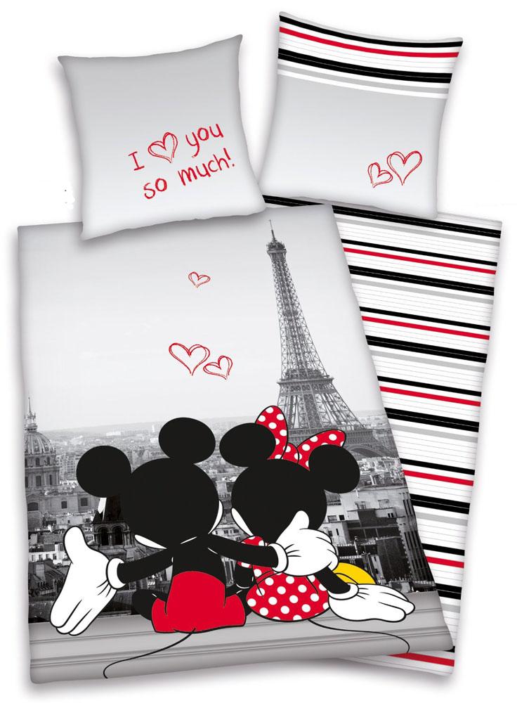 Mickey  Minnie Mouse in Paris Dekbed