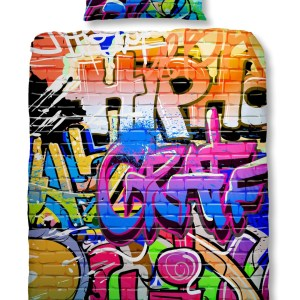 Kinderdekbedovertrek Graffiti