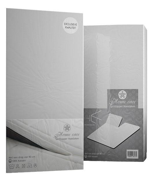 A-Keuze - Splittopper hoeslaken Cotton Wit-180 x 200 cm