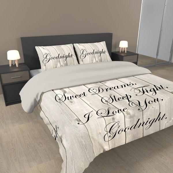 A-Keuze - Ambianzz Cotton Satin Luxery Sweet Dreams Naturel-240x200/220 cm