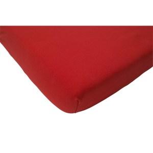 Jollein Hoeslaken Double Jersey 60x120cm rood