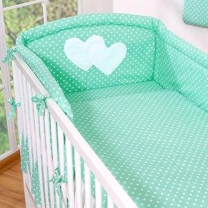My Sweet Baby Hoofdbeschermer 'Two Hearts' Mint/Dots