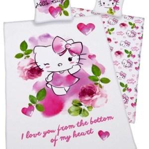 Hello Kitty Dekbedovertrek Love