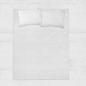 DreamHouse Bedding Verkoelend Hoeslaken Katoen - Wit 200 x 220