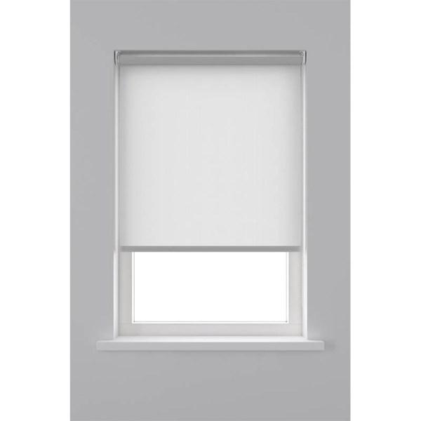 Decosol Rolgordijn Lichtdoorlatend - Helder Wit 90 x 190 cm