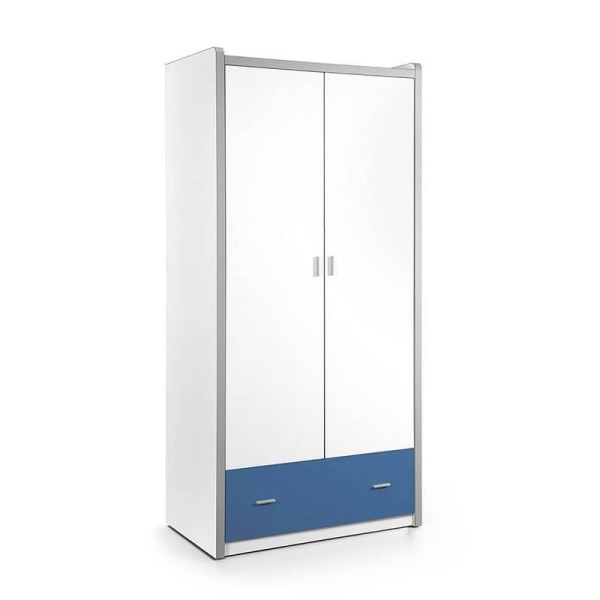 Vipack Bonny - Kledingkast 2 deurs Kleur: Blauw