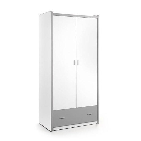 Vipack Bonny - Kledingkast 2 deurs Kleur: Zilver