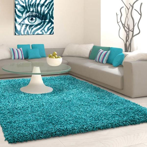 Vloerkleed - Antalya - Rechthoek - Turquoise Life Effen 60 x 110 cm - Ga naar Dekbed-Discounter.nl & Profiteer Nu