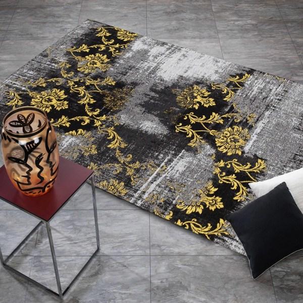 Vloerkleed Diana Melody - Grijs/Geel 70 x 140 cm