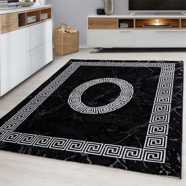 Vloerkleed - Spiral - Rechthoek - Zwart Plus Patroon 80 x 150 cm - Ga naar Dekbed-Discounter.nl & Profiteer Nu