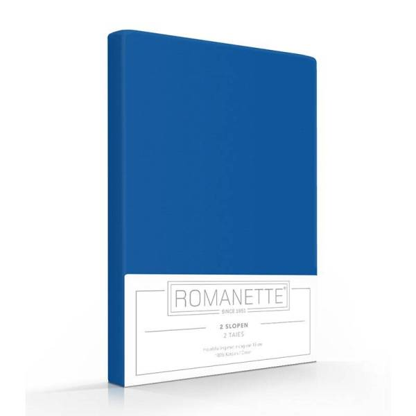 1+1 Gratis - Romanette Kussenslopen - Kobalt Romanette - Ga naar Dekbed-Discounter.nl & Profiteer Nu