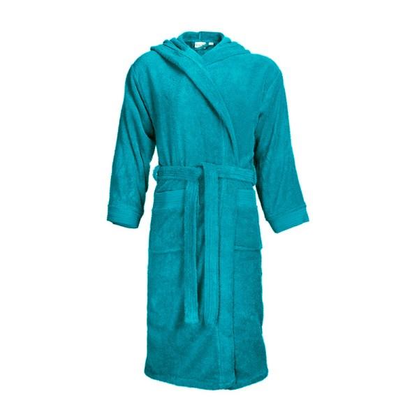 Standaard Badjas met Capuchon - Turquoise The One Towelling S/M - Ga naar Dekbed-Discounter.nl & Profiteer Nu